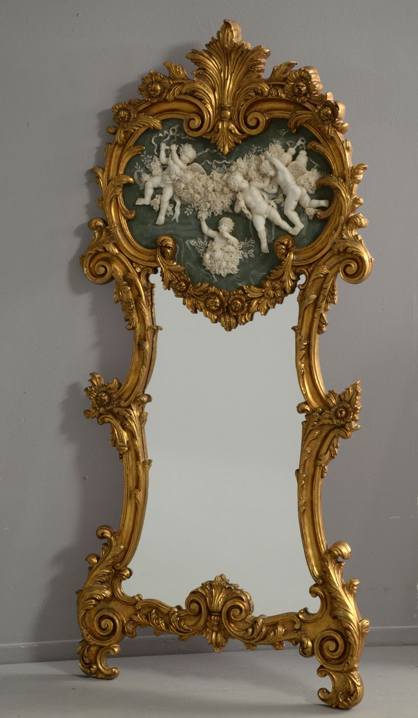ROCCO FLOOR MIRROR | Mirror in giltwood frame in the rococo style ...