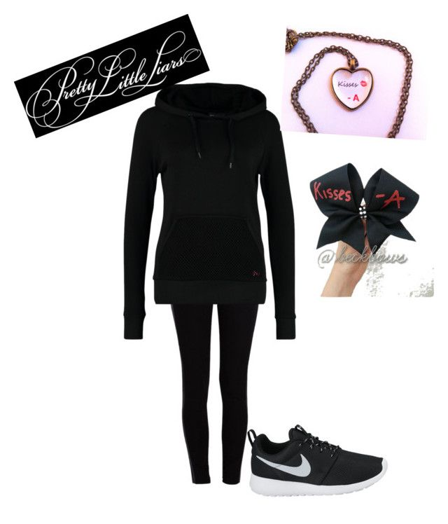 """""""A from pretty little liars"""" by omg-gab ❤ liked on Polyvore featuring Pieces, Only Play and NIKE"""