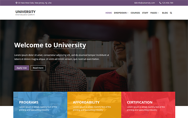 University - Bootstrap 4 Education Theme | Bootstrap Theme