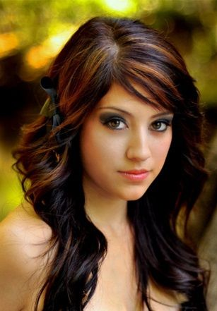 Image Result For Copper Hair Highlights Black Hair With