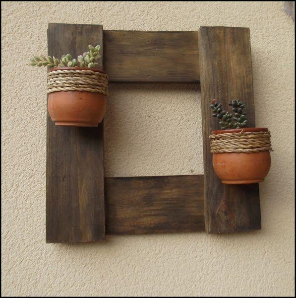 Un precioso detalle decorativo para el jard n reciclando - Manualidades con madera ...