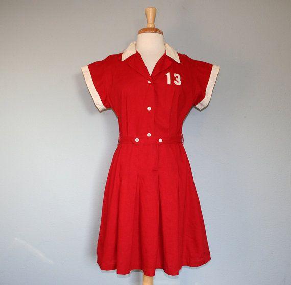 1940s BASEBALL DRESS