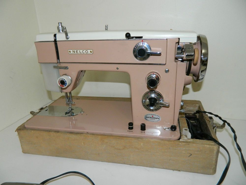 Vintage PINK Nelco Sewing Machine Model R-400   Marshall's ...