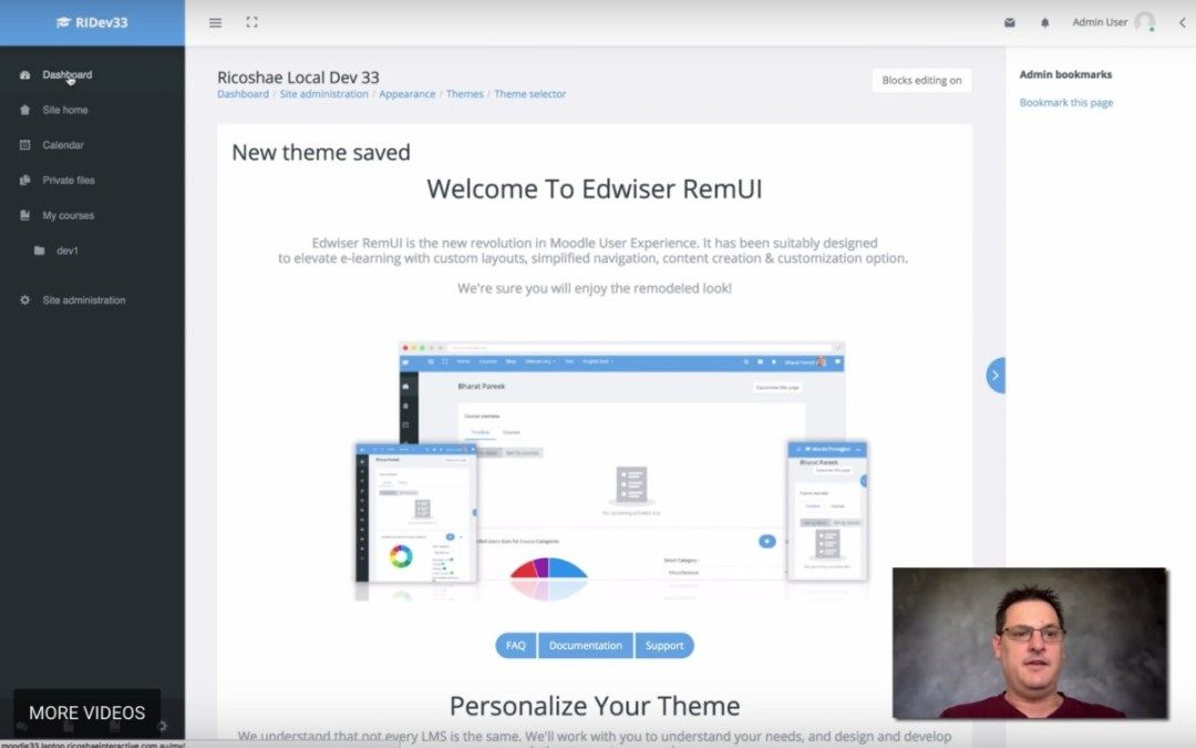 Installing RemUI theme on Moodle 3.3 Online education