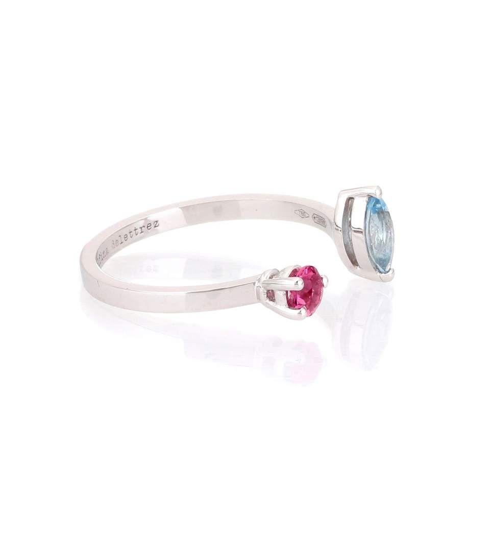 Delfina Delettrez Aquamarine, tourmaline & white-gold ring