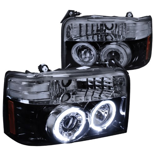 Spec D Tuning 2lhp F15092g Tm 1992 1996 Ford F150 Projector Headlight Gloss Black Housing With Smoked Lens As Shown Ford Bronco F150 Bronco