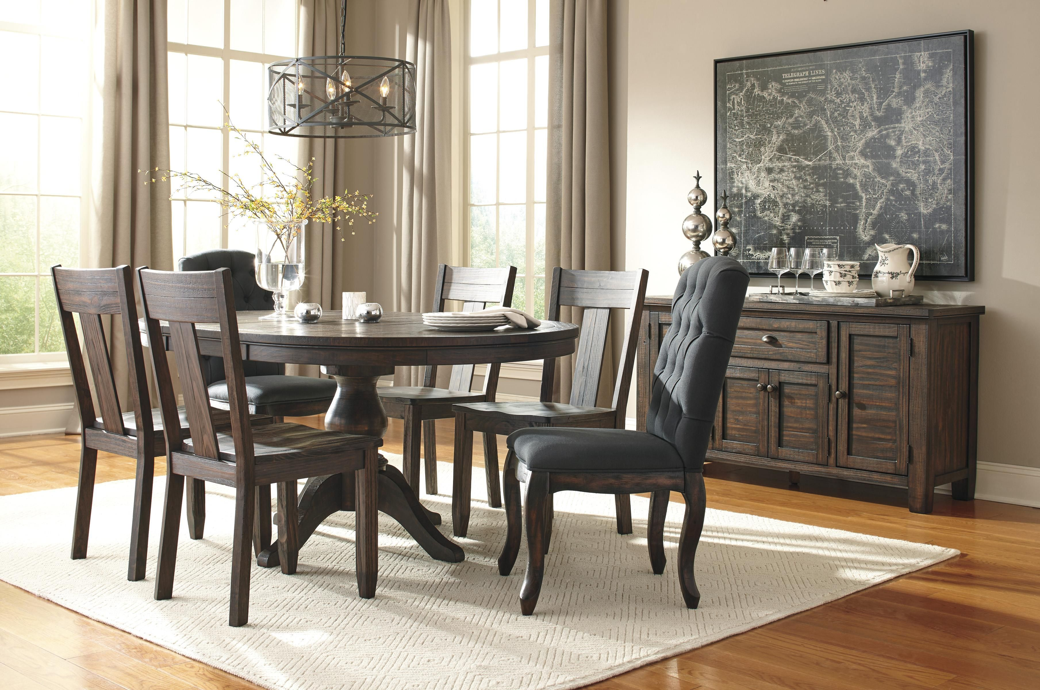 Create A Welcoming Dining Area With Your Choice Of The Pieces Available From This Collection Featuring All Solid Pine Construction In Rustic And