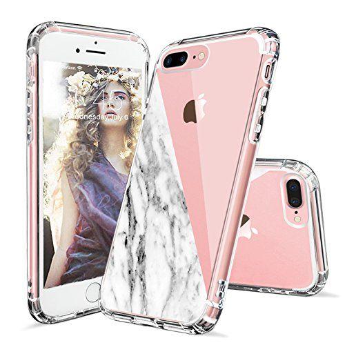 Iphone 7 Plus Case Iphone 8 Plus Case Clear Mosnovo Half White Marble Clear Design Printed Plastic Hard Case With Iphone Iphone 7 Plus Cases Protective Cases