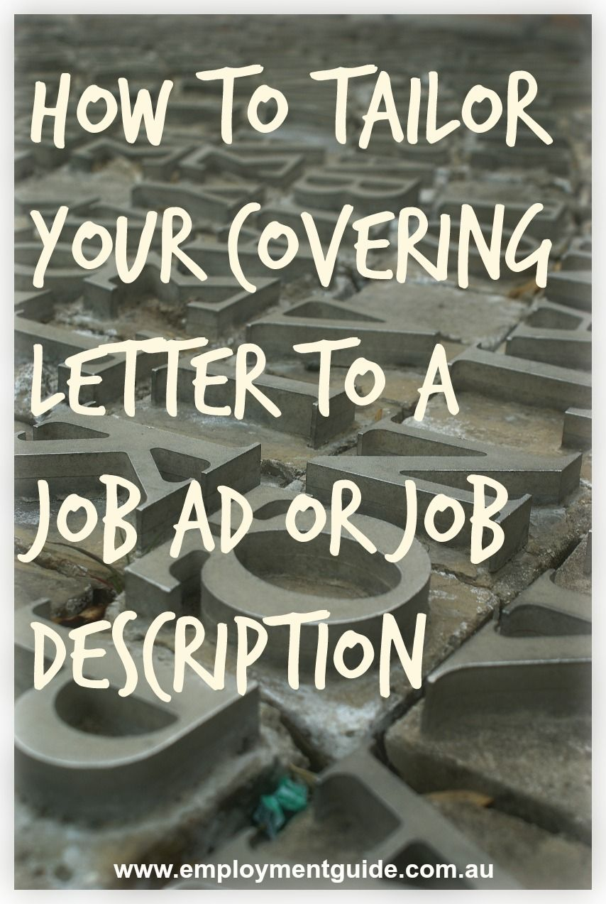 How To Do A Cover Resume How Do You Tailor Your Covering Letter To A Job Ad Or Job .