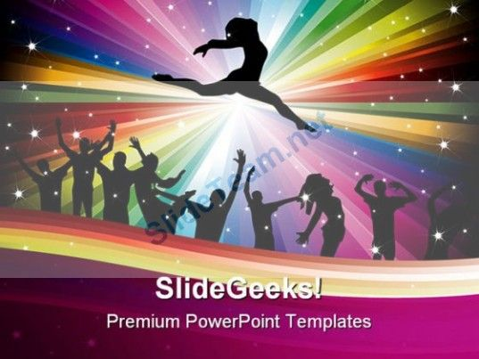 Dance Music Abstract Powerpoint Templates And Powerpoint