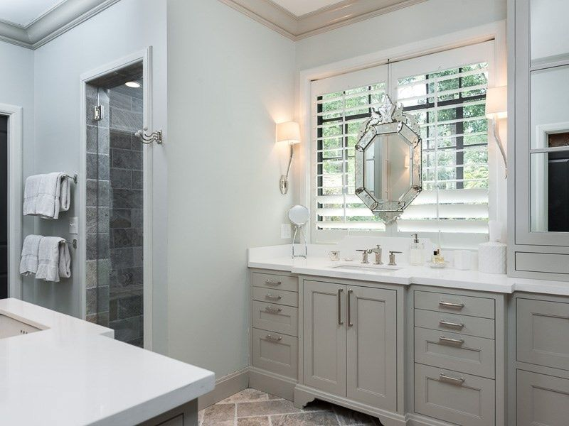 Best Traditional Master Bathroom With Slate Tile Floors 400 x 300