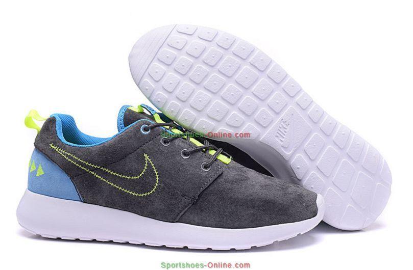 08a210209d67 Womens Nike N7 Roshe One - Deep Grey Blue Volt