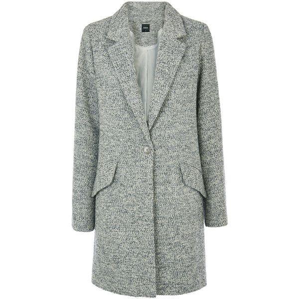 OASIS Tweed Katy Car Coat ($150) via Polyvore