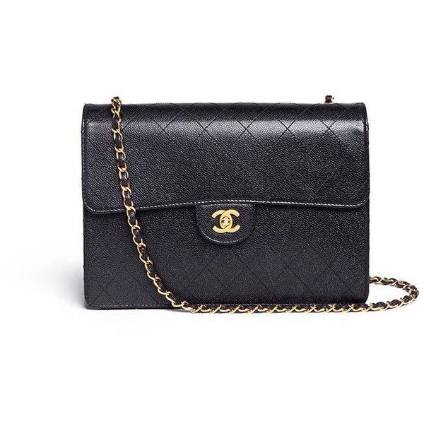7497c3688b45 Vintage Chanel Jumbo caviar leather flap bag (189