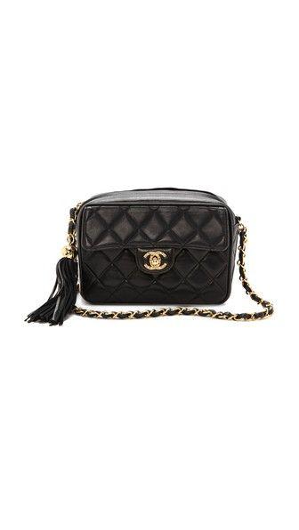 d699a3a00894 Vintage Chanel Small Camera Tassel Bag   Chanel   Vintage chanel ...