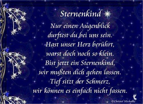 Gedichte Aus Dem Herzen Sternenkind Sternenkinder Trauerspruch Kinder Spruche Trauer