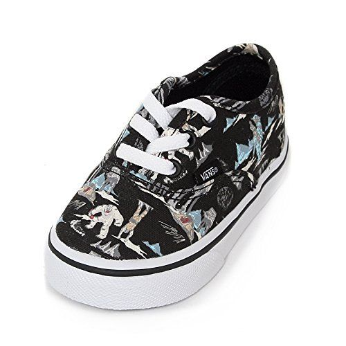 29f21a9f3b0b46 Vans Toddler Authentic Star Wars Dark Side   Planet Hoth Lace Up Trainer