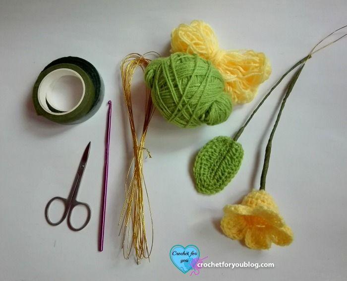 Crochet 3D flower bouquet Free Pattern | Actividades