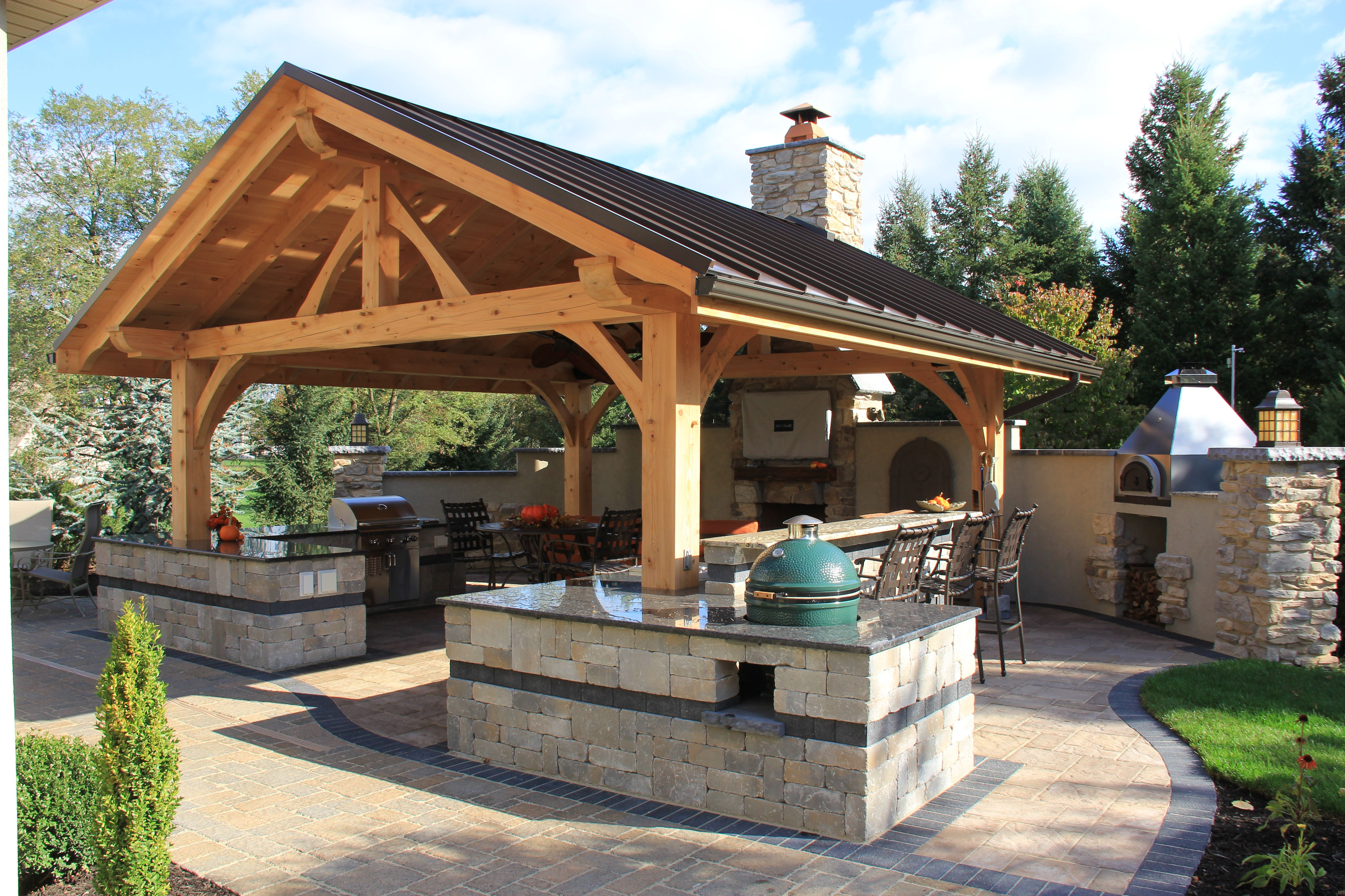 Pool patios ideas covered patio with outdoor kitchen covered patio - Best Ideas Ci Mid Atlantic Timber Frames Outdoor Kitchens With Bars Jpg Rend