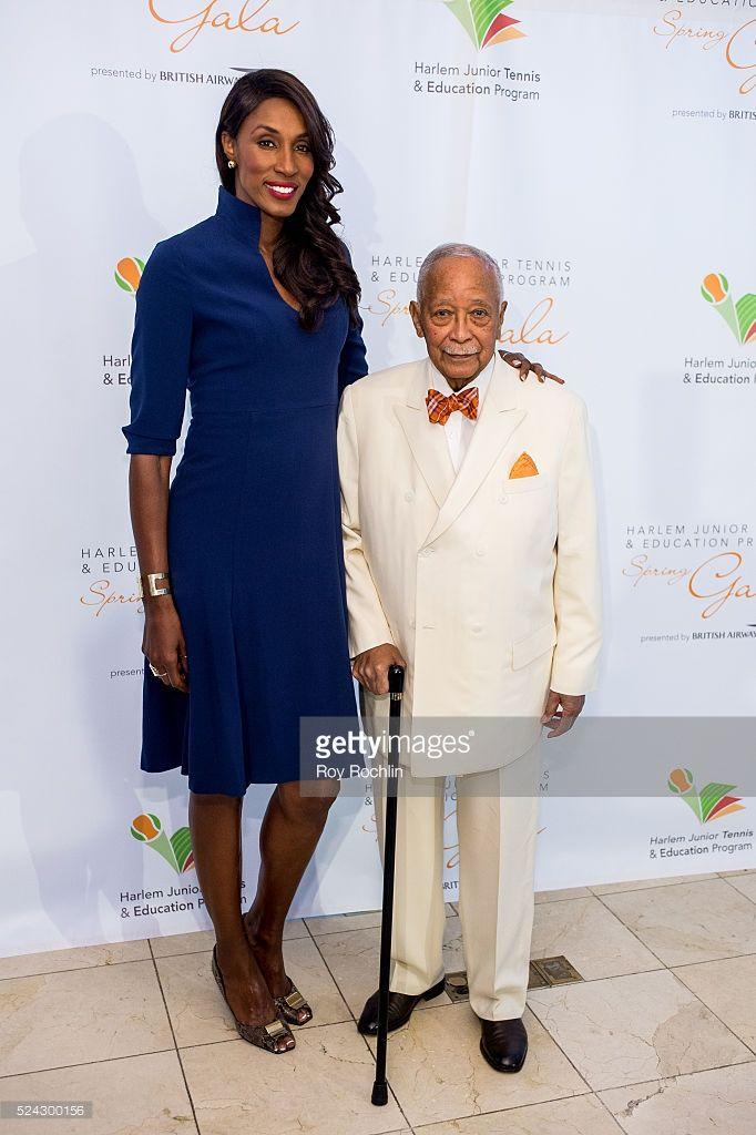 former basketball player lisa leslie with former mayor david dinkins basketball players david dinkins tall people former basketball player lisa leslie