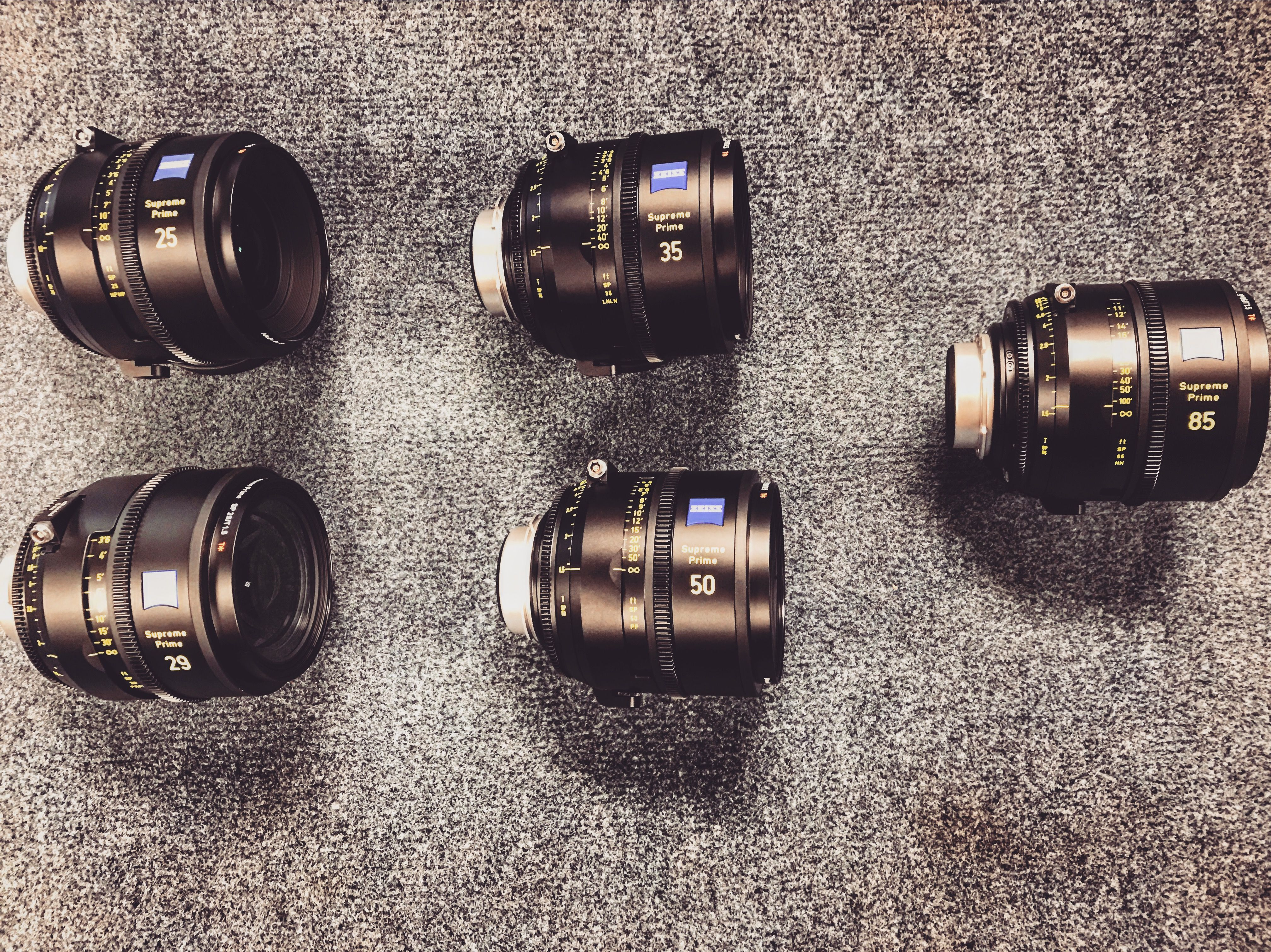 Yes! ZEISS Cinematography Supreme Primes are in house  We've got the