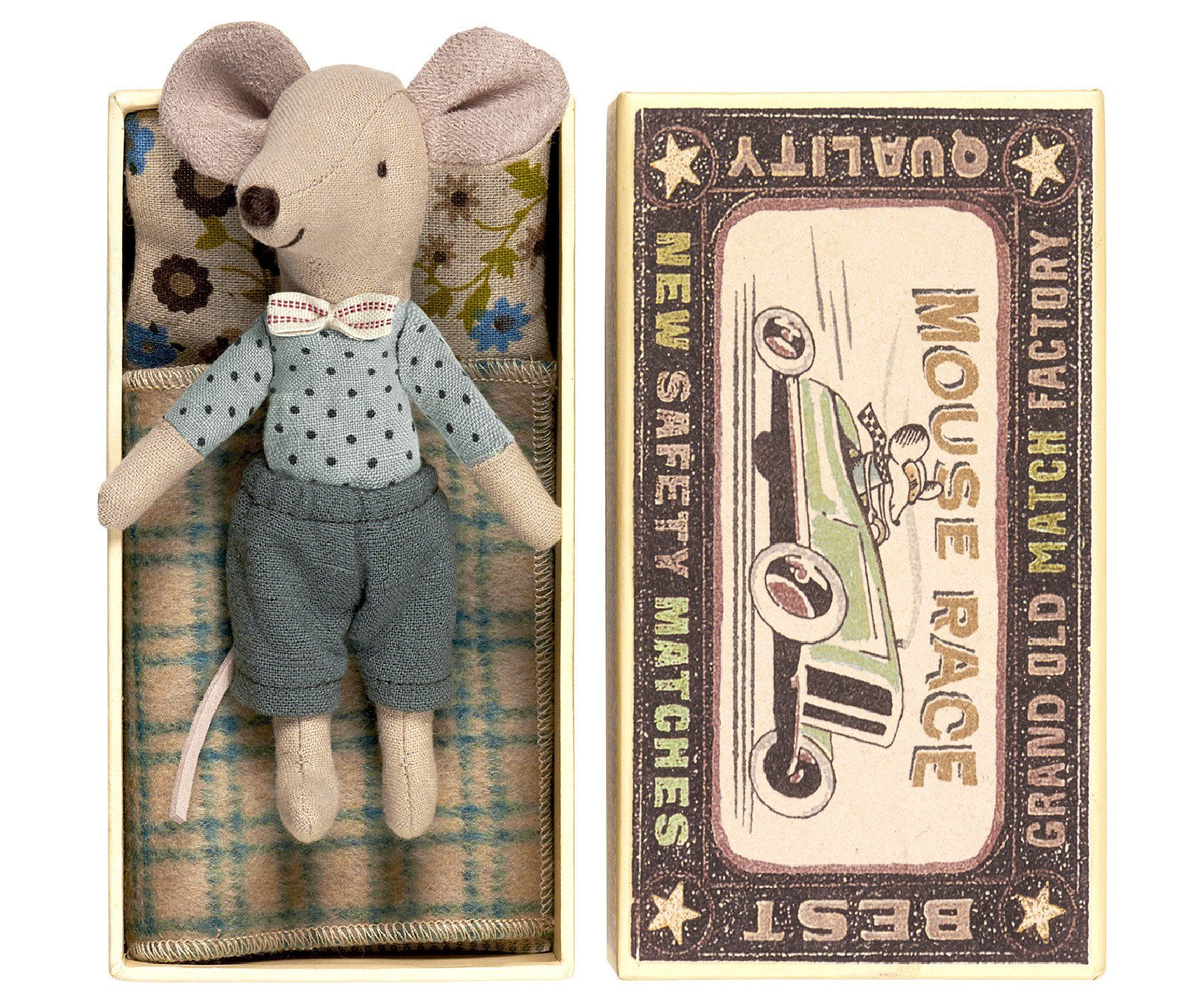Big Brother Bow Tie Mouse In Box Kinder Spielzeug Stofftiere Zahnfee