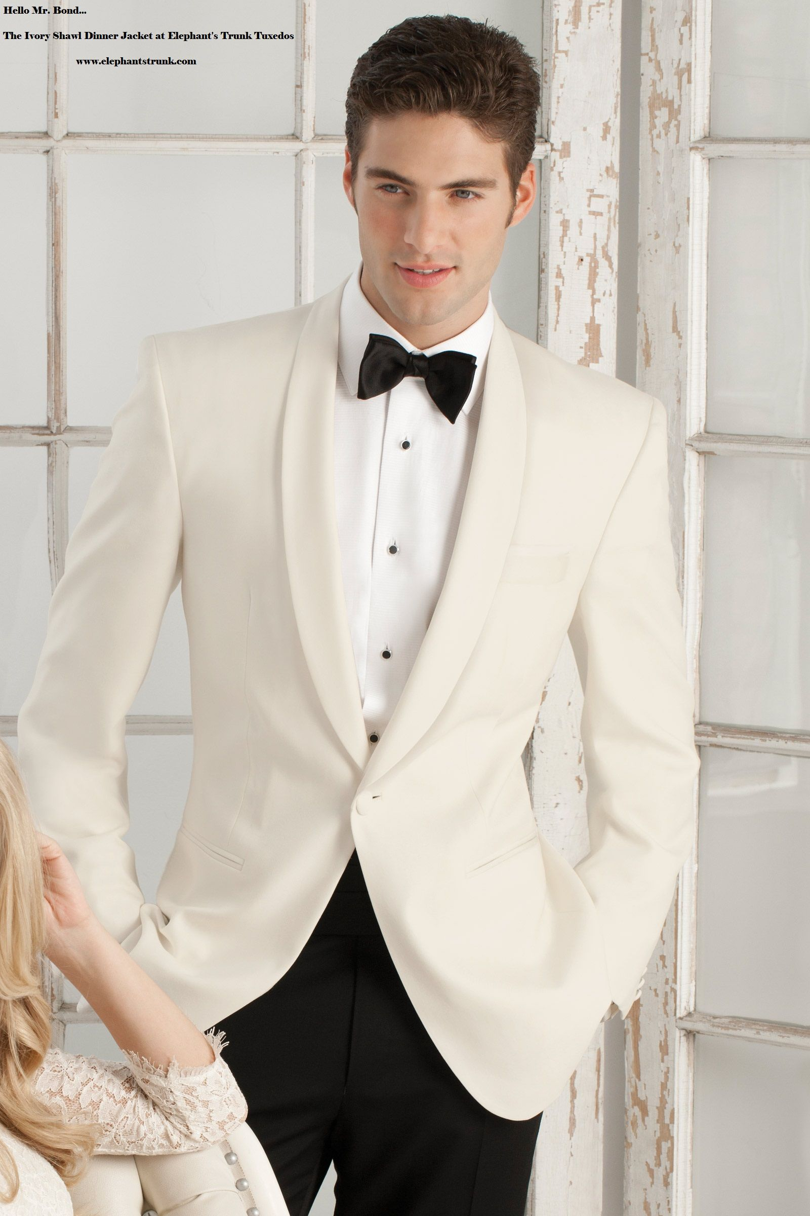 Beautiful Ivory Dinner Jacket... Perfect for weddings or black tie ...
