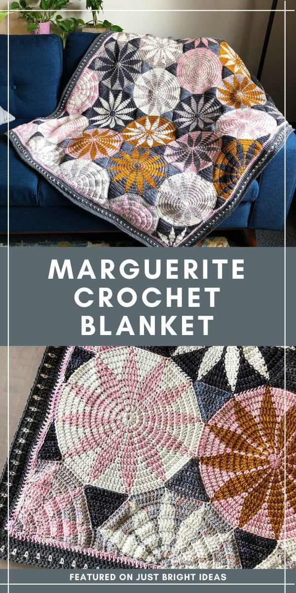 This Beautiful Geometric Crochet Blanket is a Joy to Make