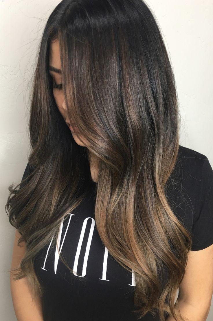 Pinterest Deborahpraha Balayage For Brunettes Hair Color Long Hair Cheveux Bruns Contouring Cheveux Cheveux Bruns Longs