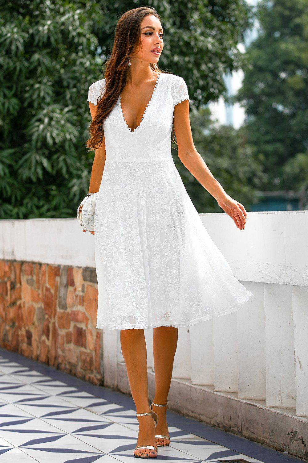 White Lace Open Back Party Dress Mod And Retro Clothing In 2021 Cocktail Dress Lace Lace Dress White Lace Dress Long [ 1500 x 1000 Pixel ]
