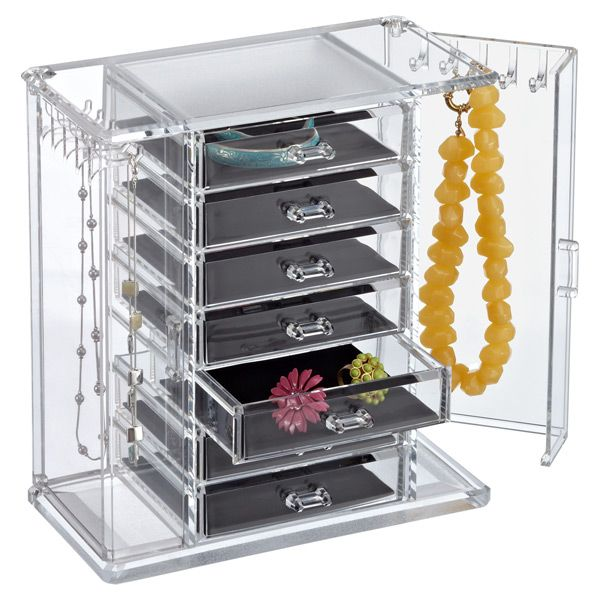 Premium Acrylic Chest Jewelry chest Container store and Organizing