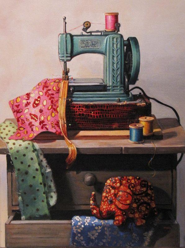 Рисунок книгу о тряпку швейная машина фото рисования