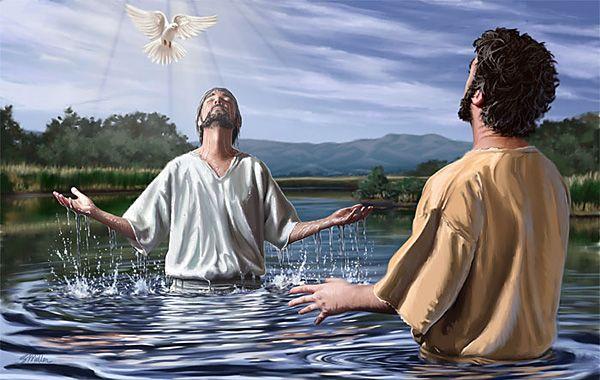 26. John Baptizes Jesus. Matt 3:13-17; Mark 1:7-11; Luke 3