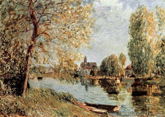 Alfred Sisley - Frühling in Moretsur-Loing