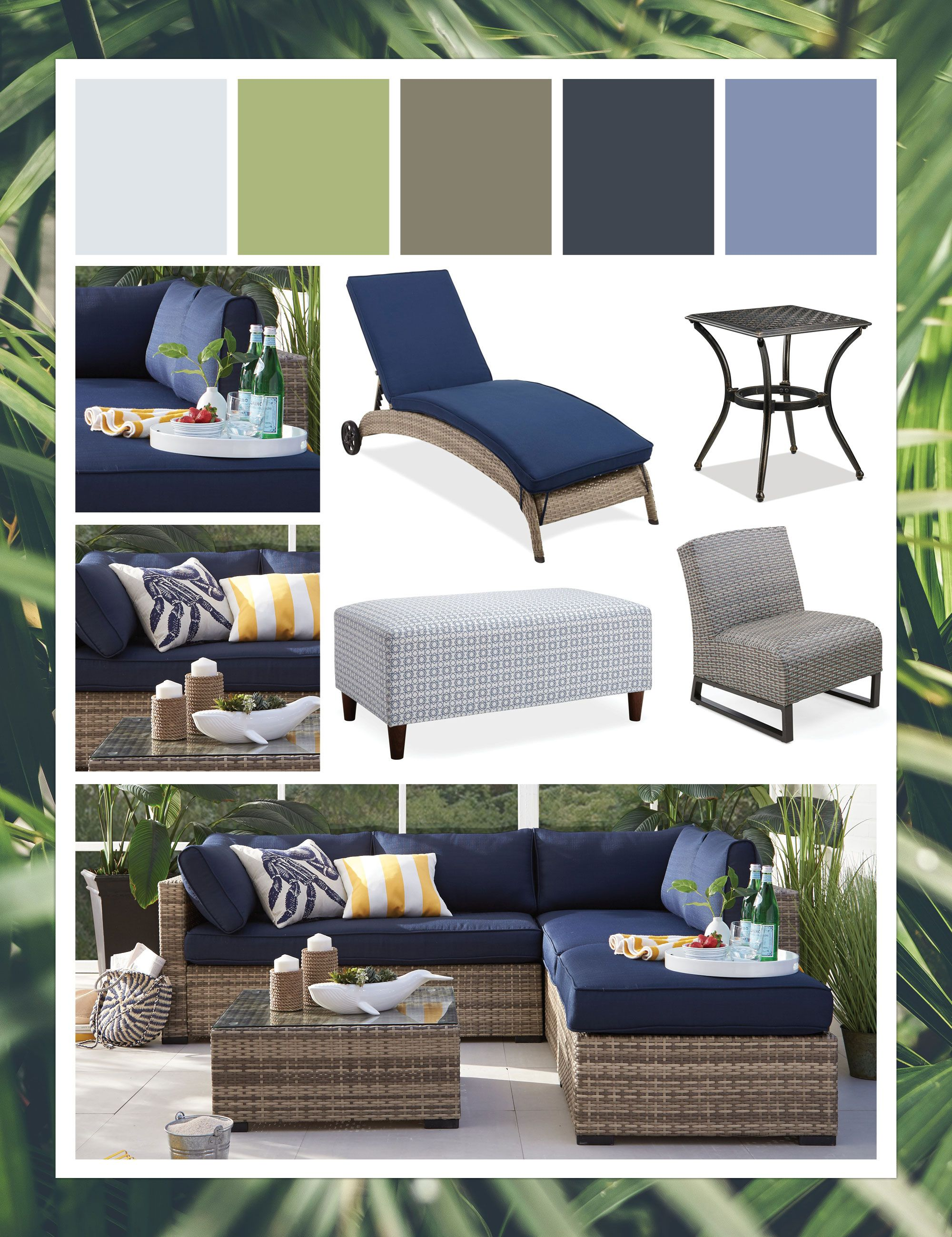 Patio Decor Ideas Beautiful Blues Outdoor Mood Board Blue Patio Blue Outdoor Furniture Blue Patio Decor