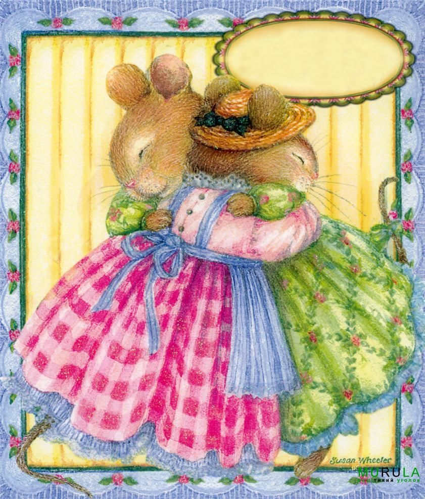 Illustration/Painting by Susan Wheeler ~ My grandmother & me always hugged…