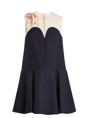 Contrast-yoke cotton dress Delpozo hTbsO