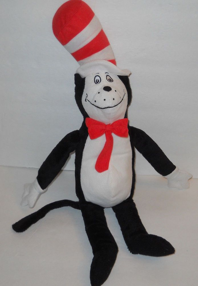 "Dr Seuss The Cat in the Hat 20"" Plush Stuffed Animal Kohls Cares For Kids #KohlsCares"