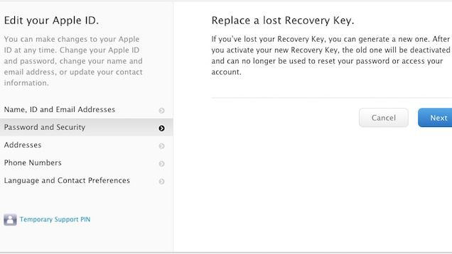 Replace A Lost Apple Id Recovery Key Before You Re Locked Out