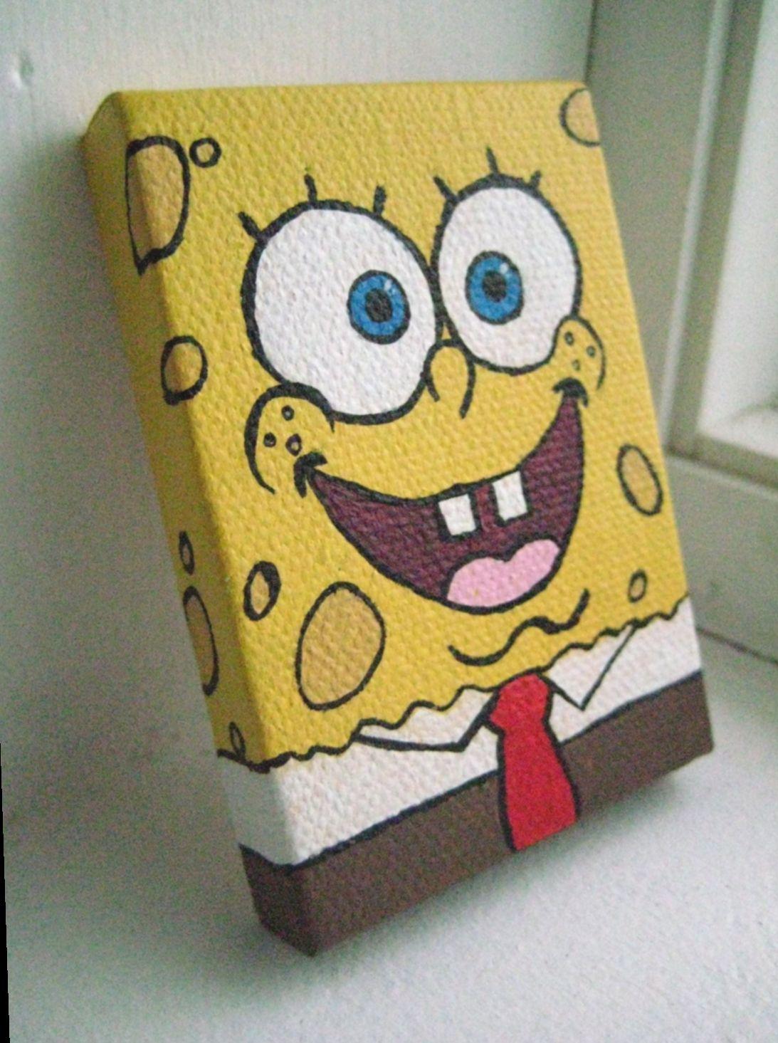 Cute Things To Paint Spongebob Maedemenina Princess Modainfantil Diy Canvas Art Mini Canvas Art Diy Art Painting