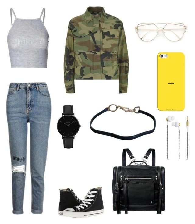 """polyvore"" by jesy-smith on Polyvore featuring mode, Converse, Topshop, McQ by Alexander McQueen, CLUSE, Prada, Casetify et Kreafunk"