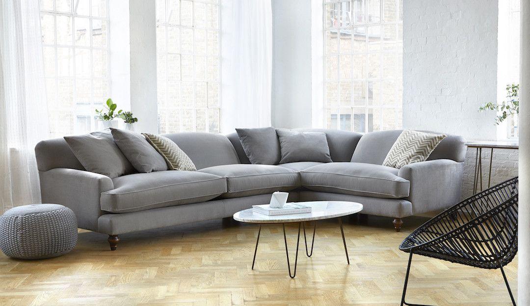 Wohnzimmergarnituren Günstig ~ Corner sofas nice sofa with lounging unit boconcept white