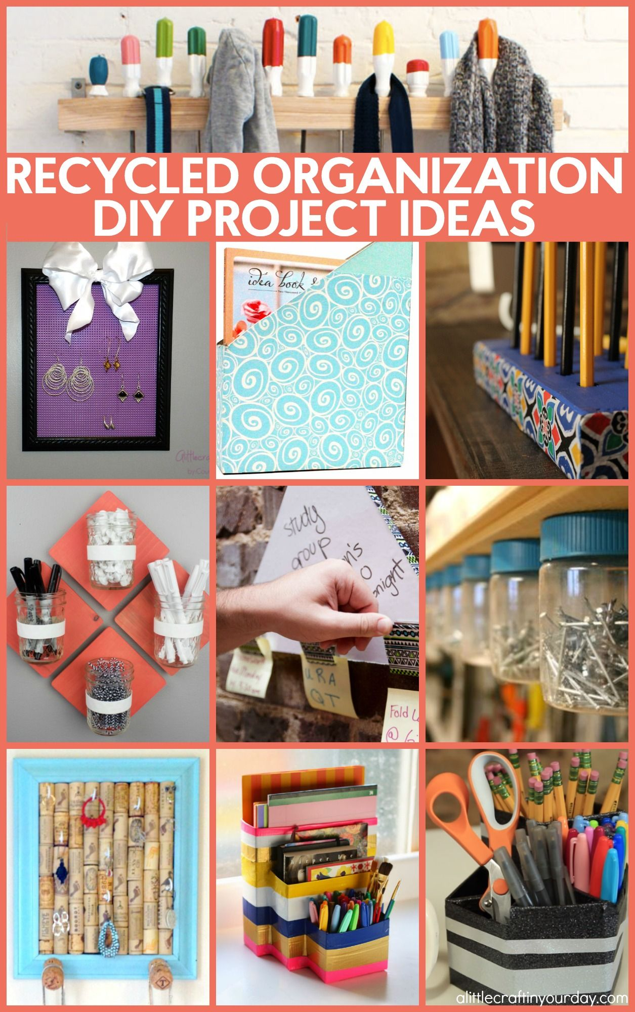 Recycled Organization Ideas Recycle Crafts Diy Recycled Crafts