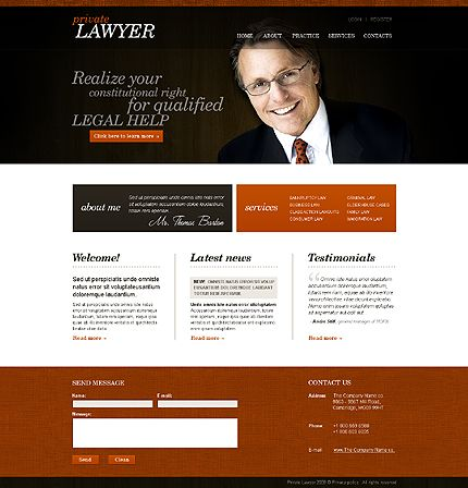 Lawyer Website Template Lawyer Website Template And Website - Lawyer website template