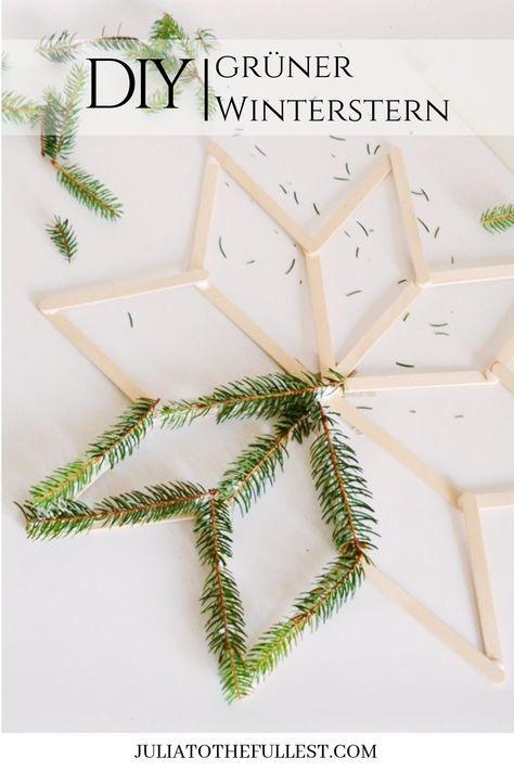 Photo of DIY – grüner Winterstern mit Vorlage | Julia to the Fullest