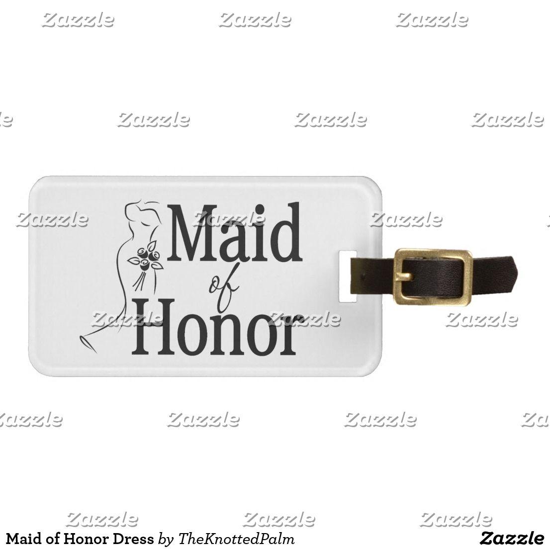 Maid of honor dress bag tag wedding luggage u accessories