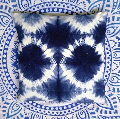 Cool This Pillow Cover Was Made From Cotton Fabric That I Dyed With Natural Indigo Will Be A Perfect Accent On Top Of Your Bed
