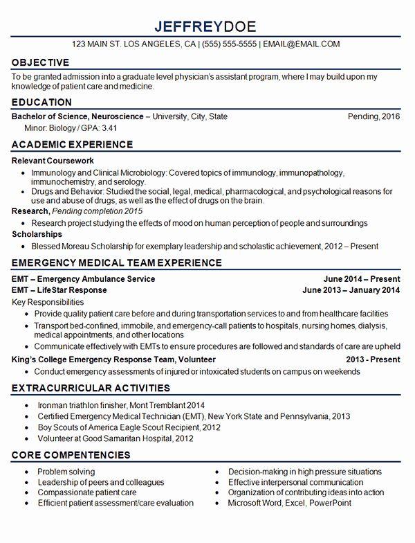 Med School Resume Template Elegant Medical Student Resume