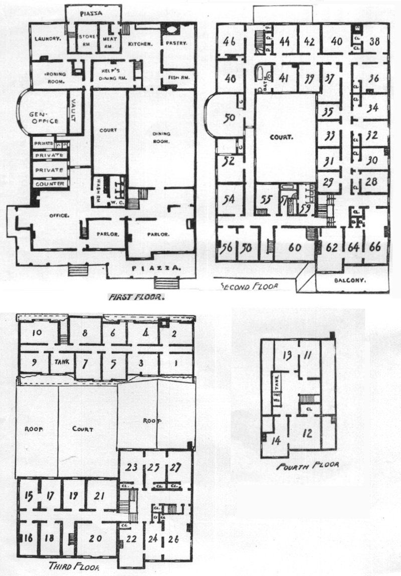The Mansion House At Poland Spring House Plans Mansion Mansion Floor Plan House Plans With Photos