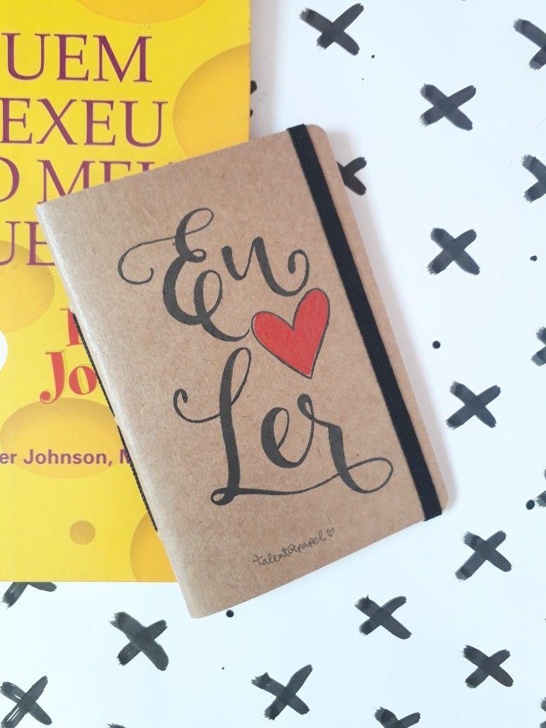 Caderno Artesanal Personalizado Eu Amo Ler Livro Quem Mexeu No